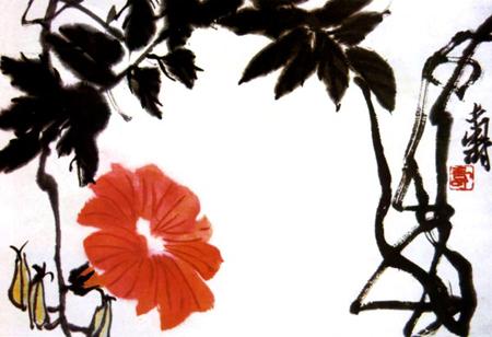 近现代中国画十大师作品欣赏