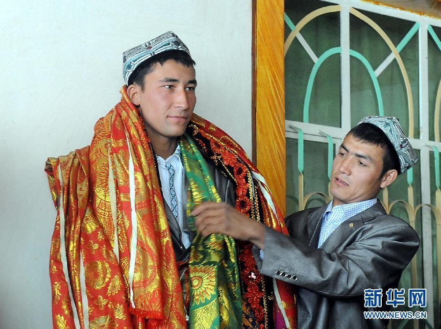 高清组图 揭秘独具风情的维吾尔族婚礼