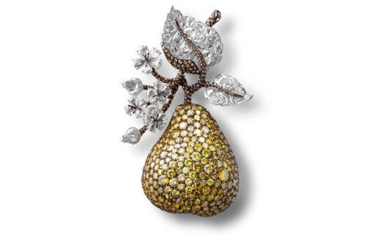 梨子做的小动物造型高清图片