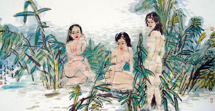 艺术家笔下的少数民族美女组图 读书频道