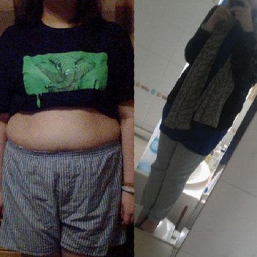 减肥前后对比照片照片