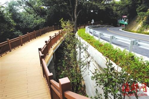 鼓山涌泉寺路边绿化 栈道已修好