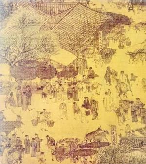 古代小吃摊手绘