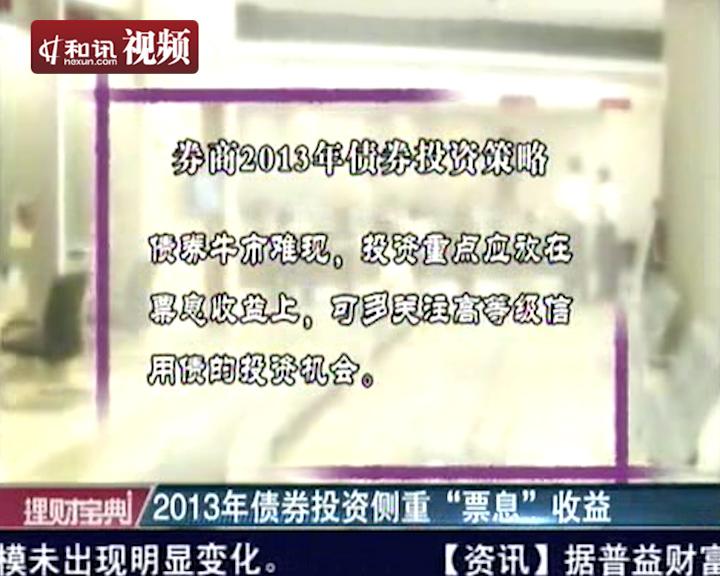 2012债券基金大盘点 和讯视频