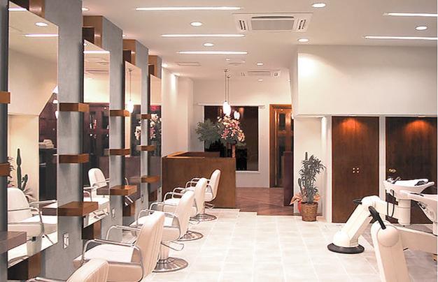 50平方理发店装修图8幅 50平米小型发廊装修