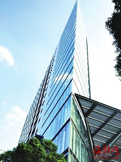 南京一大楼 长得像 斧头