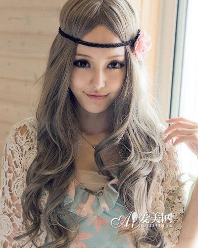 中分卷发发型图片 中分卷发发型图片韩国 中短发中分卷发发型图片