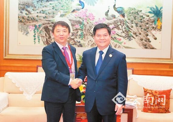 李纪恒会见复星集团董事总经理潘松
