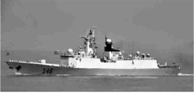 海军亚丁湾护航编队舰艇之一�C常州舰