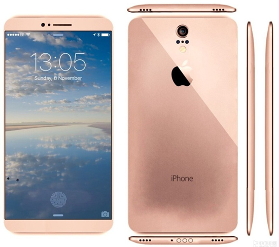 iphone 7概念设计图曝光:超窄边框五色设计