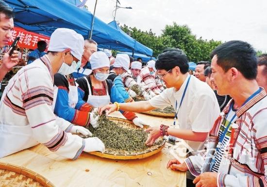 基诺山乡传承手工制茶技艺