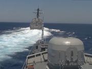 美军驱逐舰在地中海危险接近俄护卫舰