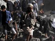 也门葬礼现场遭沙特联军空袭